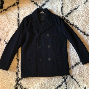 Tommy Hilfiger Navy Pea Coat